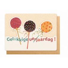 Wenskaart met lolly's - Gelukkige verjaardag!